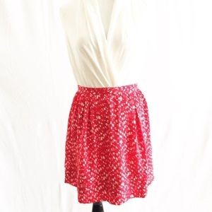 Banana Republic Red Mini Skirt Sz 0